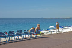 Promenade des Anglais Stock Photo