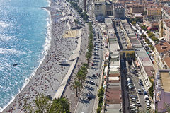 Promenade des Angles in Nice, France Stock Photography
