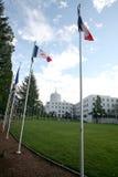 Promenade des drapeaux Photos stock