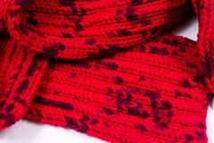 Promenade di seta rossa Ho lavorato a maglia un reticolo dell'incrocio Fotografia Stock Libera da Diritti