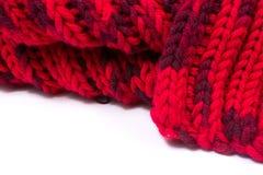 Promenade di seta rossa Ho lavorato a maglia un reticolo dell'incrocio Immagine Stock