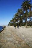 Promenade at the Douro estuary, Portugal Royalty Free Stock Photo
