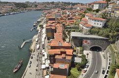 Promenade of The Douro river Royalty Free Stock Photo