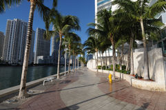 Promenade in Downtown Miami Stock Photos