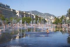 Promenade du Paillon στη Νίκαια, Γαλλία Στοκ φωτογραφία με δικαίωμα ελεύθερης χρήσης