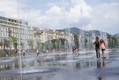 Promenade du Paillon στη Νίκαια, Γαλλία Στοκ εικόνα με δικαίωμα ελεύθερης χρήσης