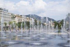 Promenade du Paillon en Niza, Francia Fotos de archivo libres de regalías