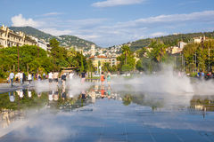 Promenade du Paillon en Niza, Francia Foto de archivo libre de regalías