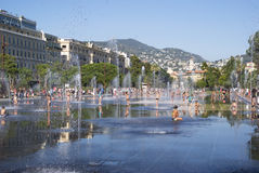 Promenade du Paillon in Nice, France royalty free stock photography