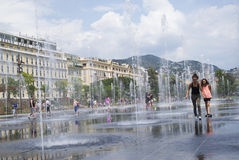Promenade du Paillon in Nice, France royalty free stock image