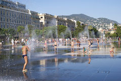 Promenade du Paillon in Nice, France Stock Image