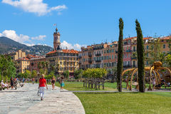 Promenade du Paillon in Nice, France. Royalty Free Stock Image