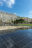 Promenade du Paillon Nice water reflections Royalty Free Stock Photos
