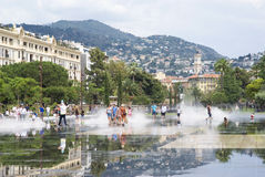 Promenade du Paillon in Nizza, Frankreich Lizenzfreie Stockfotografie