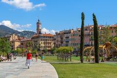 Promenade du Paillon in Nizza, Frankreich Lizenzfreies Stockbild