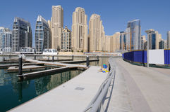 Promenade at Dubai Marina Royalty Free Stock Image