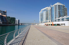 Promenade at Dubai Marina Royalty Free Stock Photography