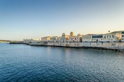 Promenade of East di Ortigia stock photos