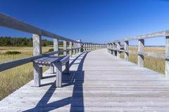 Promenade in einer Öko-Mitte, New-Brunswick, Kanada Lizenzfreies Stockfoto