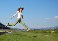 Promenade en air Image libre de droits