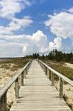 Promenade en bois Photo libre de droits