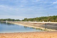 'promenade' en el lago fotografía de archivo