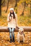 Promenade en parc d'automne Images libres de droits