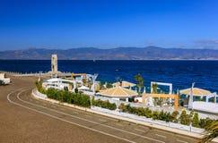 'promenade' en Regio Calabria Imagen de archivo libre de regalías