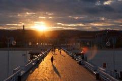 'promenade' en Sopot Imagen de archivo libre de regalías