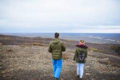 Promenade en vallée de l'Islande Photo libre de droits