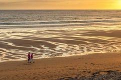 Promenade espagnole de coucher du soleil de point Photo libre de droits