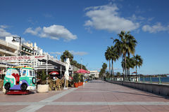 Promenade in Estepona, Spain Royalty Free Stock Images