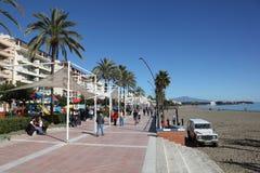 Promenade in Estepona, Spain Royalty Free Stock Images