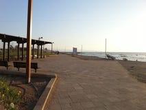 Promenade et mer Images stock