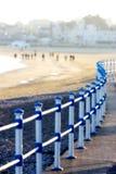 Promenade et plage dans Weymouth, Dorset, Angleterre Photographie stock libre de droits