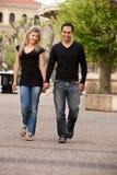 Promenade européenne de couples Photos stock