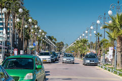 Promenade at Foinikoudes, Larnaca, Cyprus Stock Images