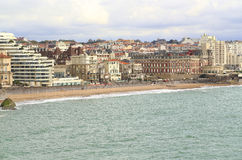 Promenade French city of Biarritz Royalty Free Stock Image