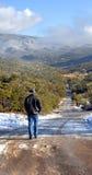 Promenade froide Image libre de droits