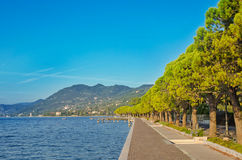 Promenade on a Garda lake Royalty Free Stock Photography