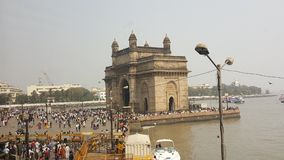 Promenade of Gateway of India, Mumbai. The Gateway of India is an arch monument built during the 20th century in Bombay, India. The monument was erected to Stock Photos