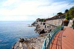 Promenade of Genoa Nervi Stock Photography