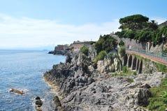 Promenade of Genoa Nervi Stock Image