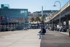Promenade in Genua Lizenzfreies Stockfoto