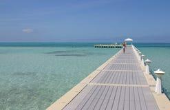 Promenade grande d'île de caïman Photographie stock