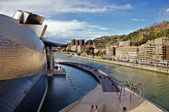 Promenade at Guggenheim Bilbao Museoa Stock Photo