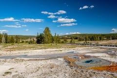 Promenade in het Nationale Park van Yellowstone Royalty-vrije Stock Afbeelding