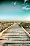 Promenade in het strand Stock Foto's