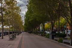 Promenade in Hoboken Royalty Free Stock Photo