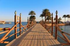 Promenade in Hurghada, Egypte Stock Afbeelding